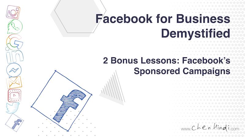 facebook for business sponsored campaigns bonus lessons