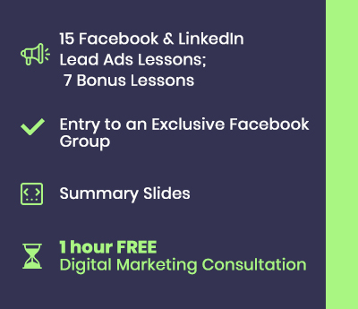 facebook linkedin lead ads course bonuses